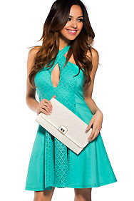 Cute Mint Green Crochet Dress