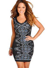 """Jeanette"" Black Sleeveless Studded Dress"
