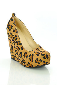 Leopard Faux Suede 'Alfa' Wedge Heel Shoes