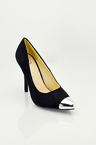 Black Faux Suede 'Expo' Pointed Toe High Heel Pumps