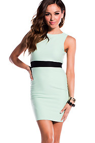 Sleeveless Light Green Fitted Formal Dress