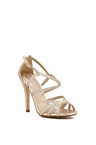Gold Glitter Fairytale Strappy Heel
