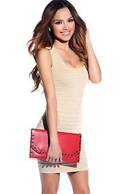 Girly Gold Shimmer Wide Strap Curve Defining Dress
