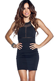 Black Choker I-Cutout Party Dress