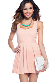 'I Heart Bellinis' Peach Skater Dress