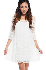 Pure Innocence White Crochet Dress