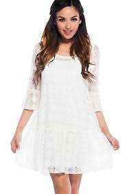 Pure Innocence White Crochet Dress