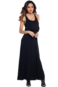 Cute Black Racerback Maxi Dress