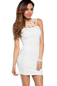 The Scarlett White Classy Pearlized Dress