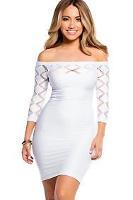 White Diamond Cut-Out Mini Dress