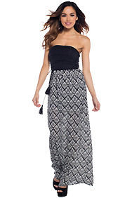 Fun Black and White Print Maxi