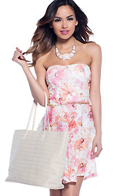 The Darling Dainty Tube Top Floral Dress