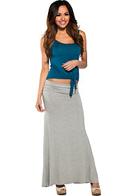 Essential Long Grey Maxi Skirt