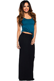 Essential Long Black Maxi Skirt