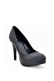 Simple Black 'Eiffel' Mid-High Heel Pump
