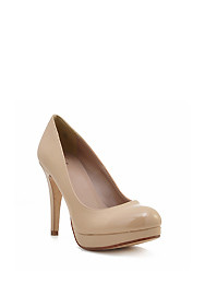 Simple Beige 'Eiffel' Mid-High Heel Pump