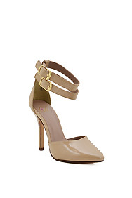 Beige 'Truth' Double Ankle Straps High Heel