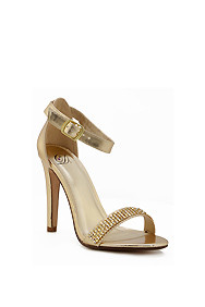 Gold 'Gila' Diamond Embellished High Heel