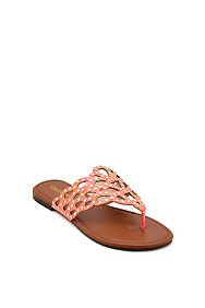 Salmon 'Jolt' Cut-Out Flat Sandal