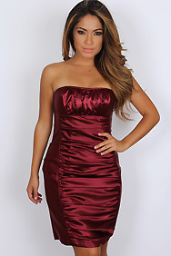 Cranberry Scrunched Dress
